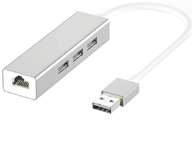 USB to RJ45 Ethernet network LAN Adapter with 3 Port USB2.0